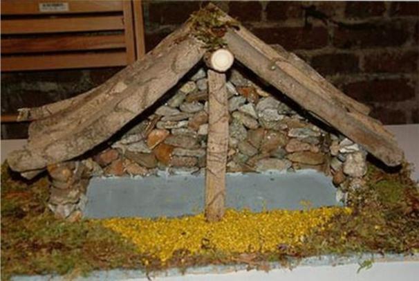 Faire une cr che de no l des mod les des tutos - Modele de creche de noel en bois a fabriquer ...
