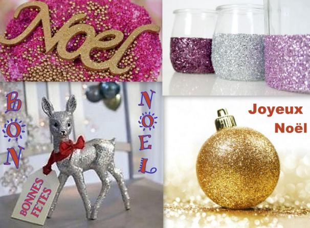 Faire des décorations de Noël à paillettes