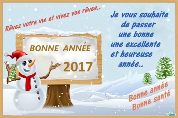 Bonne année 2017 à tous