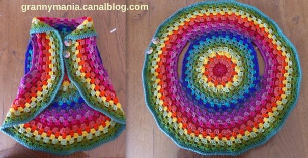 Faire un gilet circulaire en laine ou une veste mandala au crochet