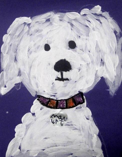 Dessins peintures chiens
