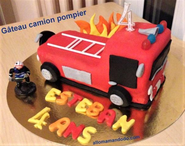 Faire un gâteau camion pompier