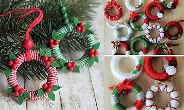 Faire des décos de Noël avec des anneaux de rideaux