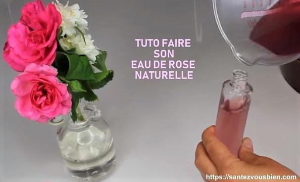 Faîtes de l'eau de rose, avec vos pétales de rose