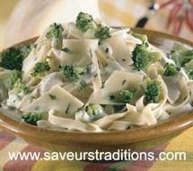 Tagliatelles aux brocolis et à l'emmental.