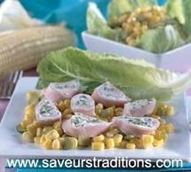 Médaillons de jambon au fromage frais
