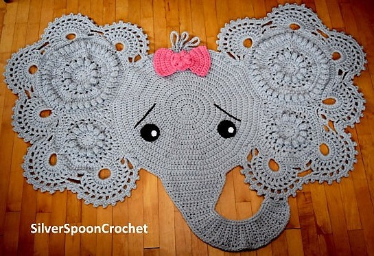 Tapis éléphants au crochet