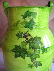 Décorations pour Pots à Lait avec du serviettage