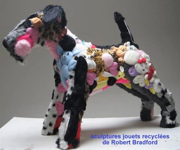 Sculptures recyclées de Robert Bradford..