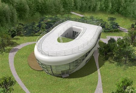 Une maison qui vient du futur, façon OVNI..