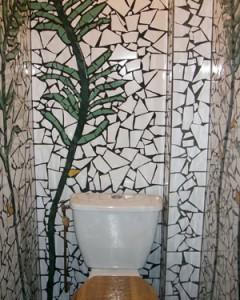 ambiance bain douche et mosaïque