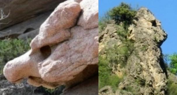 Un rocher gargouille et un rocher sphinx...whaou !