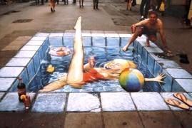une baigneuse en plein New York, ça donne envie de plonger !