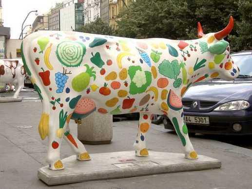 Art insolite : des vaches sur leur 31 !