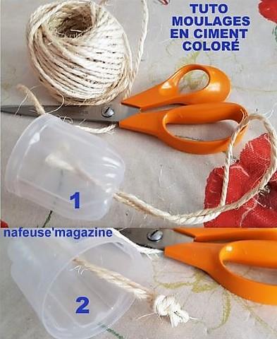 Moulages en ciment coloré