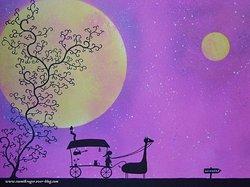 Les tableaux lunaires de Cosmik Roger !