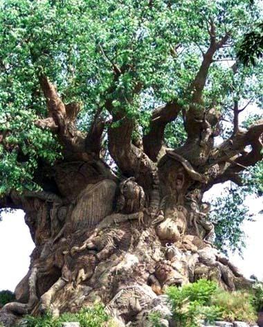 tronc d'arbre sculpté