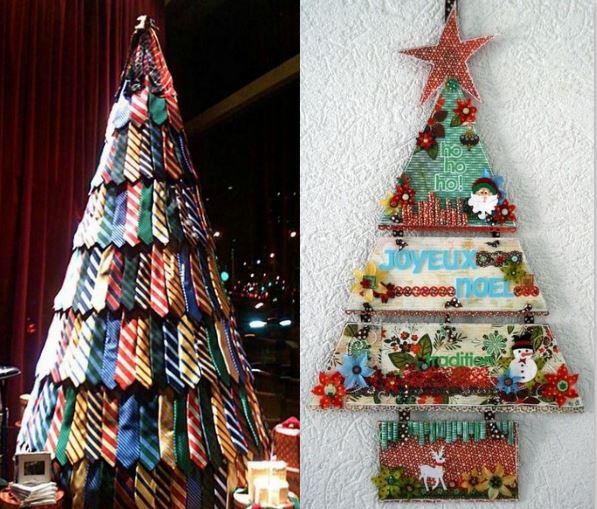 Sapins Noël tissu et cravates