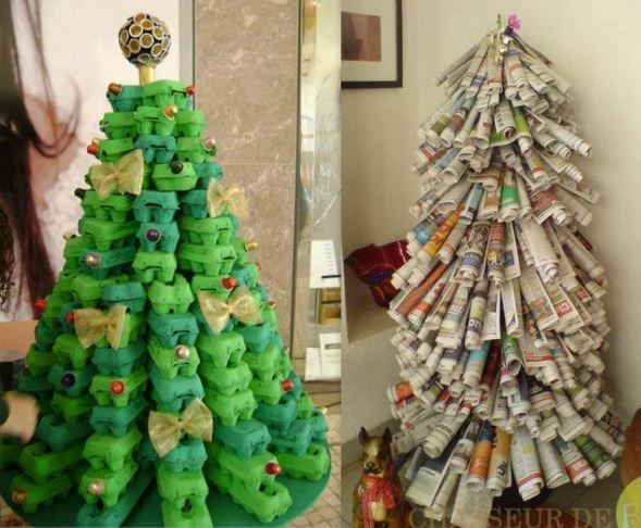 Sapins Noël 100 % récup et recyclage
