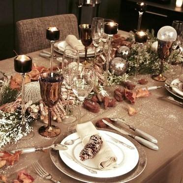 Decorer Sa Table De Noel Style Shabby Chic