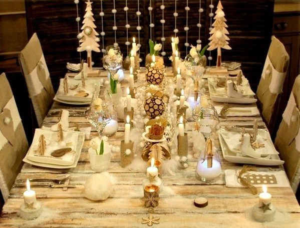 Decoration De Table De Noel Blanche Trendy Cheap Decoration De