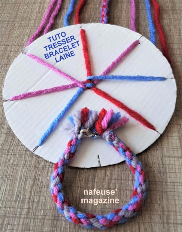 TUTO tresser un bracelet en laine