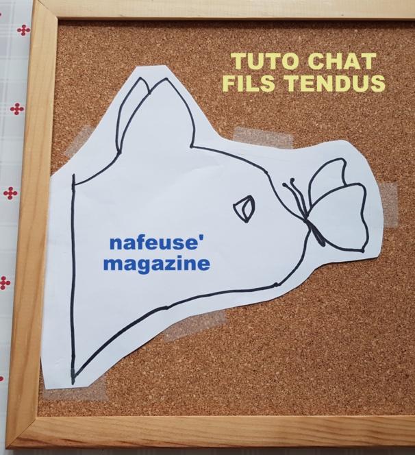 TUTO Tableau chat laine tendue