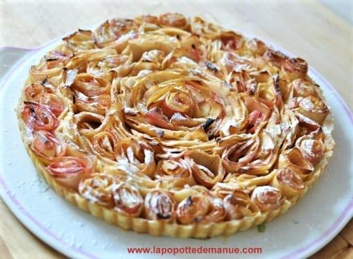 """Recettes Tarte aux pommes """"bouquet de roses"""" !"""