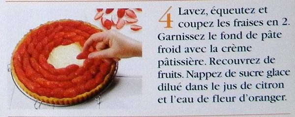 Tarte aux fraises à la crème pâtissière !