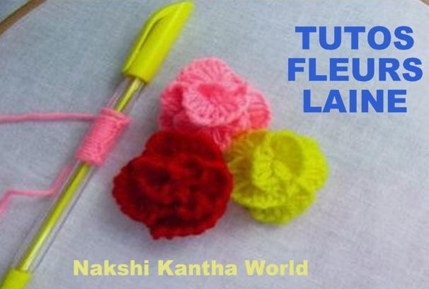 TUTOS astuces pour faire des fleurs en laine avec des crayons