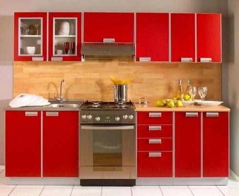 et pourquoi pas une cuisine quip e rouge. Black Bedroom Furniture Sets. Home Design Ideas