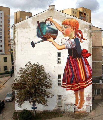 Fresque murale en Pologne..