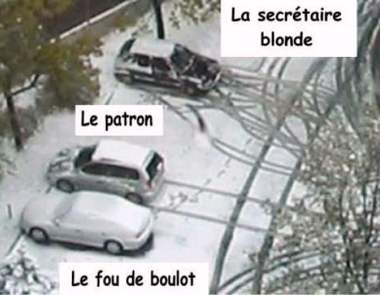 parking de bureau, voitures du personnel..