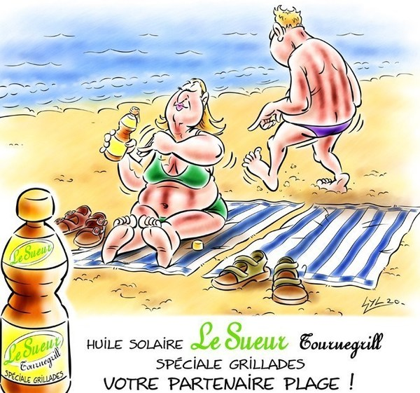 la meilleure huile...pour les grillades de plage !