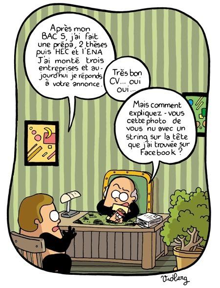 humour  facebook et la vraie vie