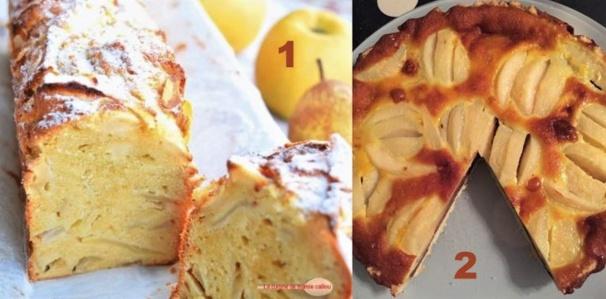 2 recettes de gâteaux gourmands pommes poires et amandes