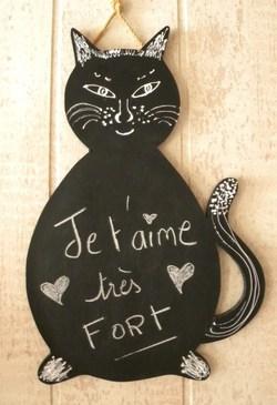 Déco utile : le tableau-chat à messages !