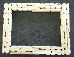 Tutoriel faire un cadre en pinces à linge !