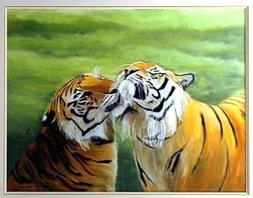 Artiste peintre Léa vous montre ses tableaux !