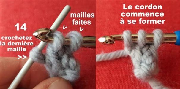 TUTO cordon laine au crochet