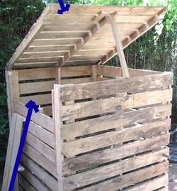 amazing faire un composteur avec des palettes en bois fabriquer une jardiniere avec des palettes. Black Bedroom Furniture Sets. Home Design Ideas