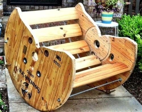 Recyclage quoi faire avec un touret en bois for Quoi faire avec une palette en bois