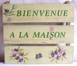 Faire un panneau Bienvenue en bois de récup !