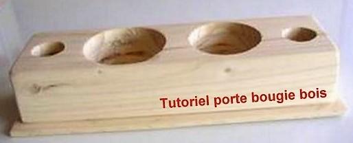 Fabrication porte bougie en bois, le tutoriel