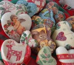 Décorations de Noël en forme de Coeur !