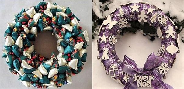 Plusieurs tutos pour faire une couronne de Noël !
