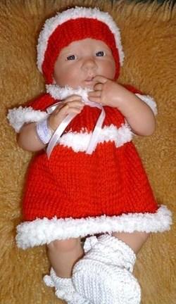 Ensemble bébé, brassière et bonnet de Noël !