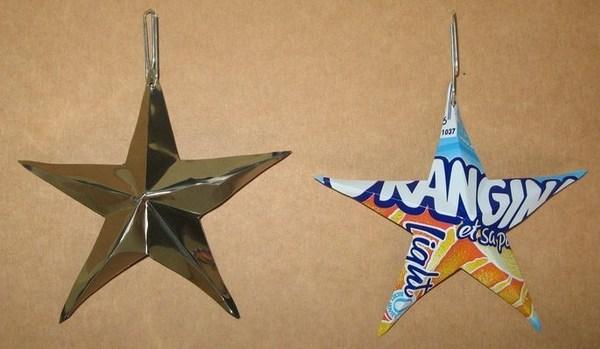 Faire une étoile en matériau de récup !