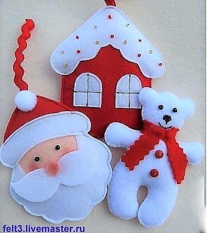 Faire un coeur de Noël en feutrine !