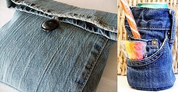 Faites de jolies créations avec vos vieux jeans !